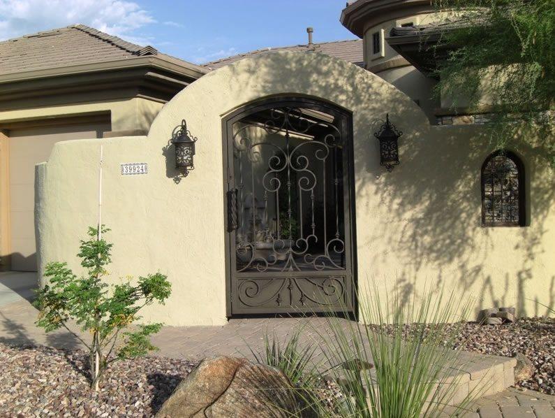 Wrought Iron Gate Southwestern Landscaping Desert Crest, LLC Peoria, AZ