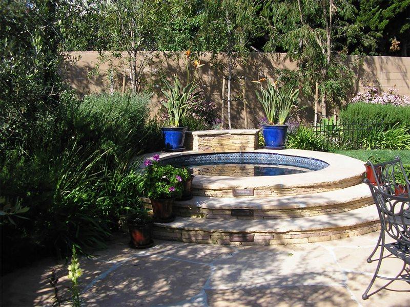 Circular Spa Spas FormLA Landscaping, Inc. Tujunga, CA