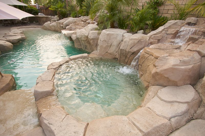 Faux Rock Spa Spas Landscaping Network Calimesa, CA