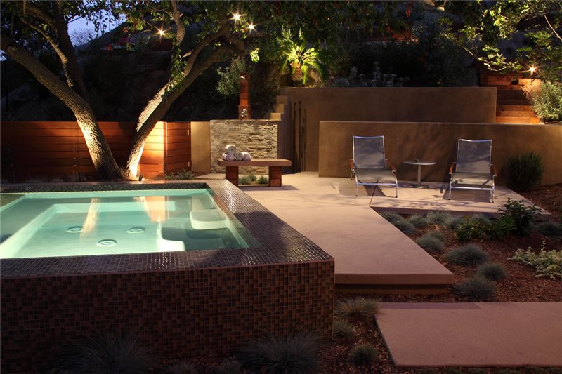 Raised Spa Spas FormLA Landscaping, Inc. Tujunga, CA