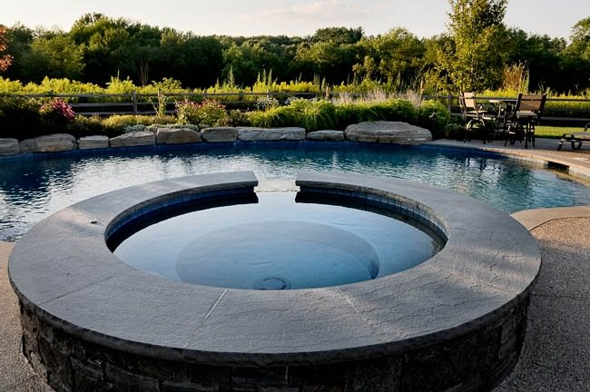 Round Spa Spas Charles C Hugo Landscape Design South Berwick, ME