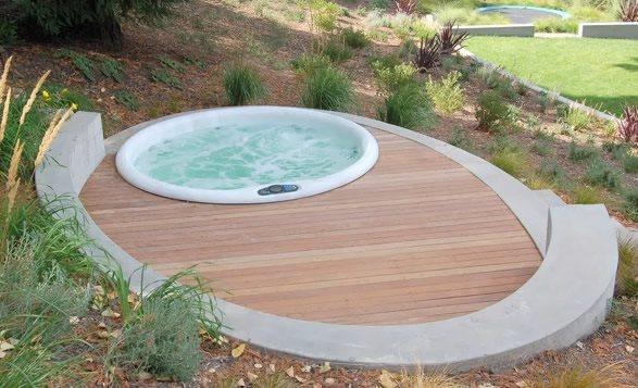 Spa Deck Spas Huettl Landscape Architecture Walnut Creek, CA