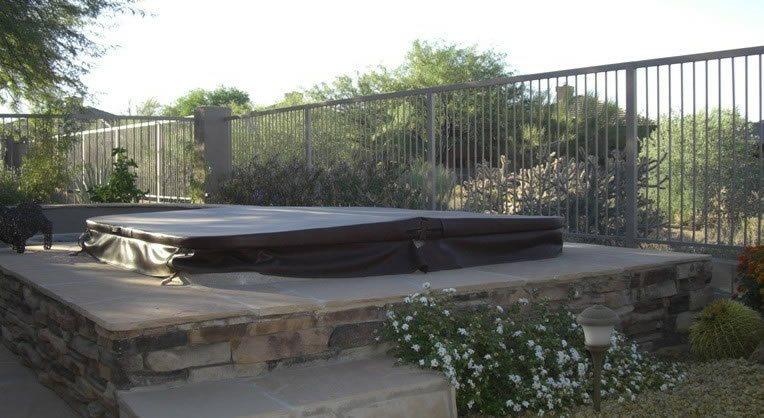 Spa, Surround, Flagstone Spas Desert Crest, LLC Peoria, AZ