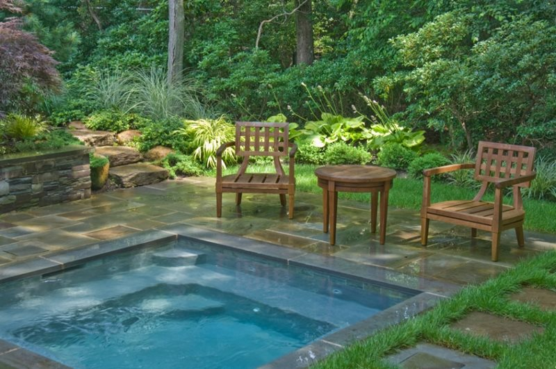 Square Spa Spas Barry Block Landscape Design & Contracting East Moriches, NY