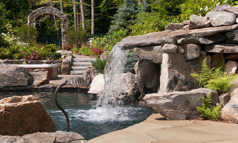 Award Winning Pool Landscape Swimming Pool Belknap Landscape Co., Inc. Gilford, NH