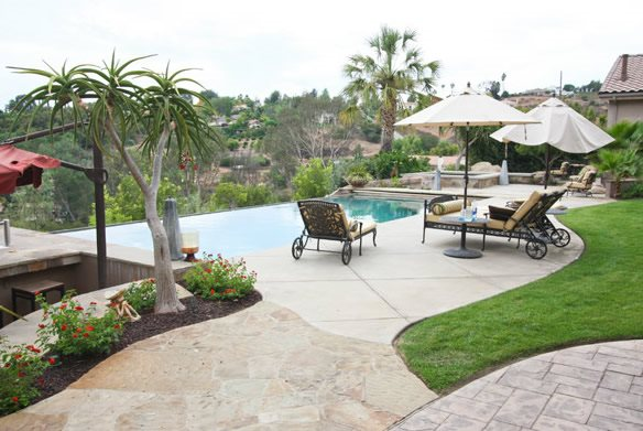 Concrete Pool Deck, Stamped, Colored Swimming Pool DC West Construction Inc. Carlsbad, CA