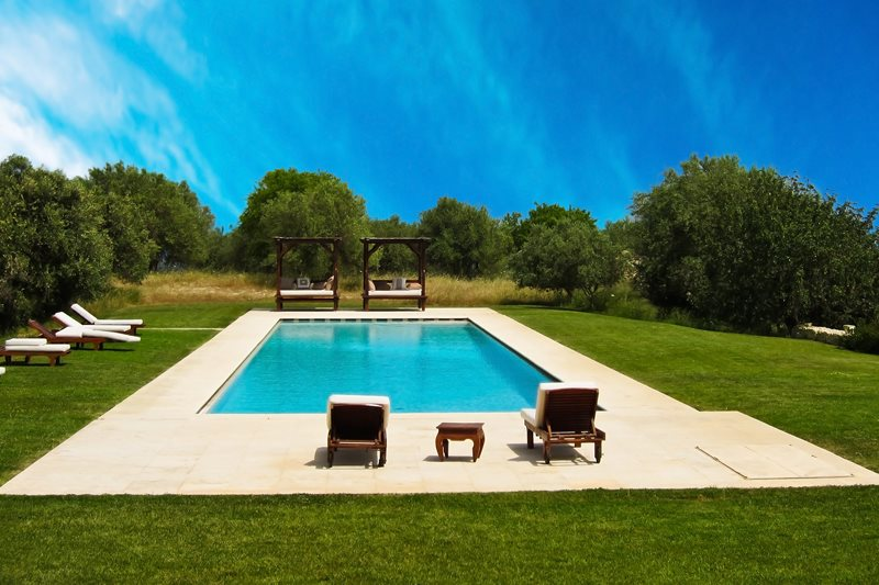 Contemporary Backyard Pool Swimming Pool Landscaping Network Calimesa, CA