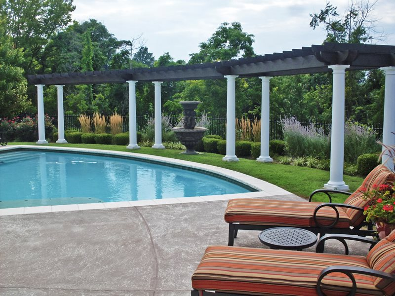 Curved Pergola, Curvd Pool Swimming Pool Green Guys Chesterfield, MO