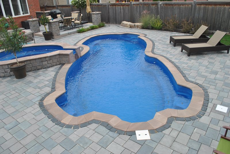 Fiberglass Swimming Pool Swimming Pool OGS Landscape Services Whitby, ON
