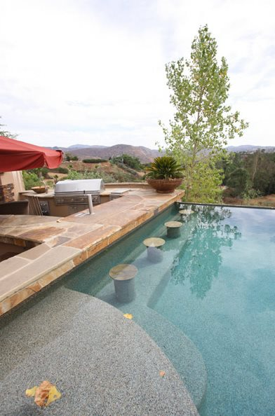 Flagstone, Pool, Bar Swimming Pool DC West Construction Inc. Carlsbad, CA