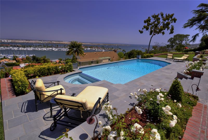 Formal, Pool, Spa, View, Harbor, Yellow Swimming Pool Landscaping Network Calimesa, CA
