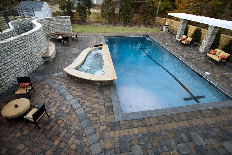 Swimming pool williamsburg va photo gallery for Pool design virginia