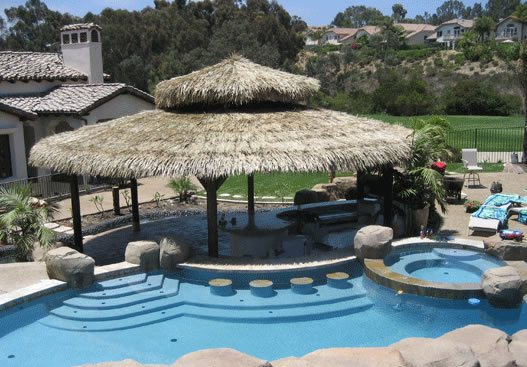 Large Round Palapa Swimming Pool Palapa Kings Oceanside, CA