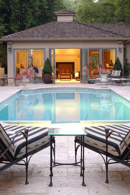 Luxury Pool House Swimming Pool Landscaping Network Calimesa, CA