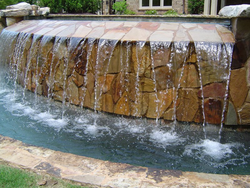 Negative Edge Pool Waterfall Swimming Pool Mudslingers Pool & Patio Indianapolis, IN