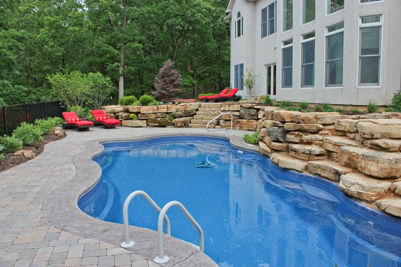 Organic Pool, Pool Pavers Swimming Pool Green Guys Chesterfield, MO