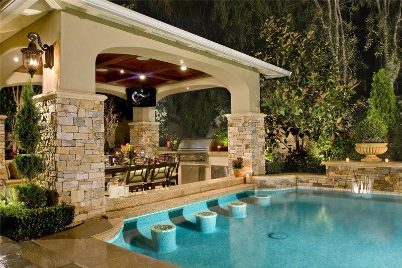Pool Bar Swimming Pool Mirage Landscape Ladera Ranch, CA