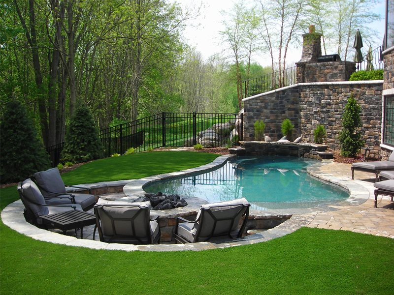 Pool & Fire Pit Swimming Pool Apex Landscape Grand Rapids, MI
