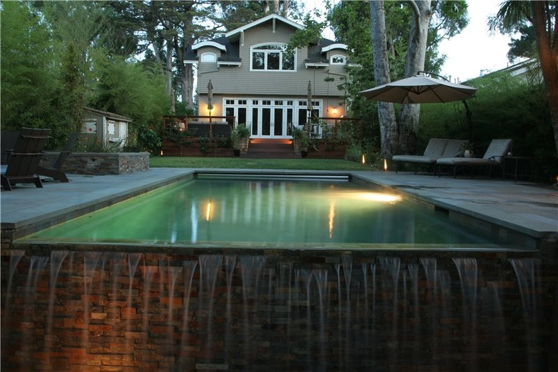 Pool Lighting Swimming Pool Shades of Green Landscape Architecture Sausalito, CA