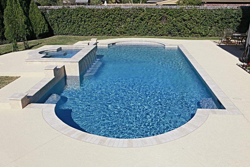 Roman Pool Shape Swimming Pool Landscaping Network Calimesa, CA