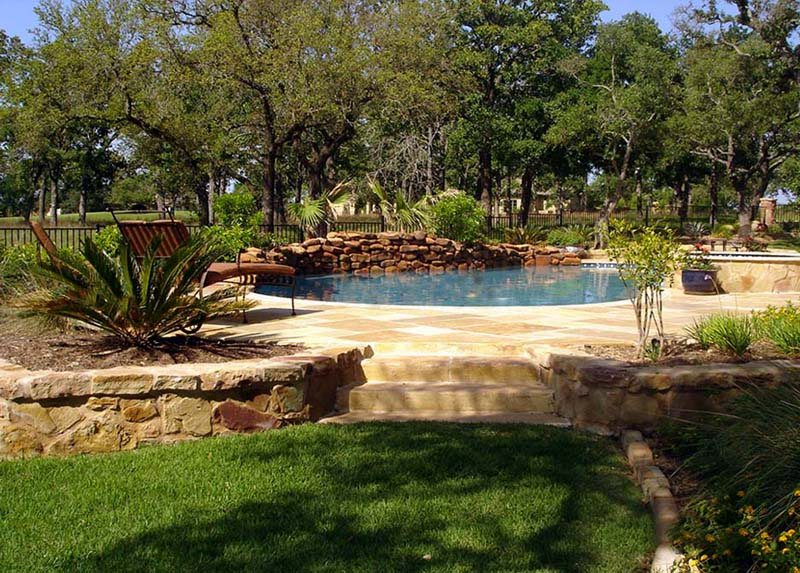 Swimming pool austin tx photo gallery landscaping for Landscaping rocks austin