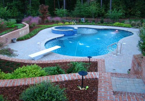 Swimming Pool Spray Jets Swimming Pool The Southern Landscape Group Pinehurst, NC