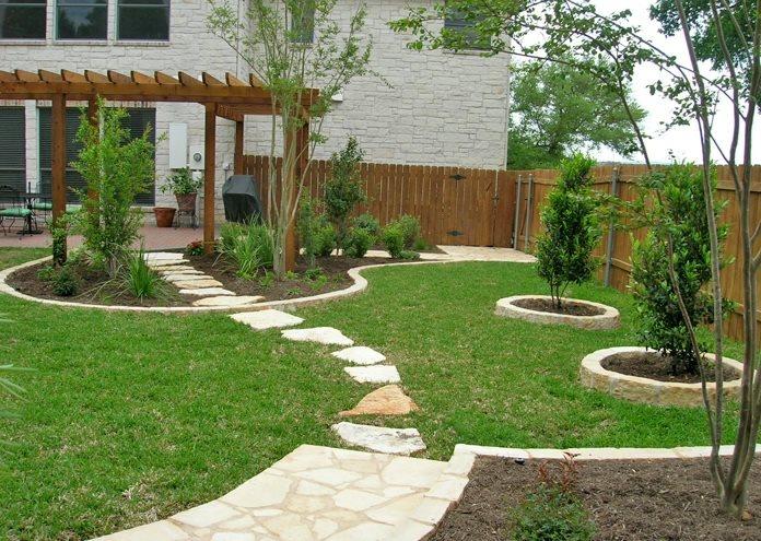 Backyard Lawn Traditional Landscaping Design My Yard Austin, TX