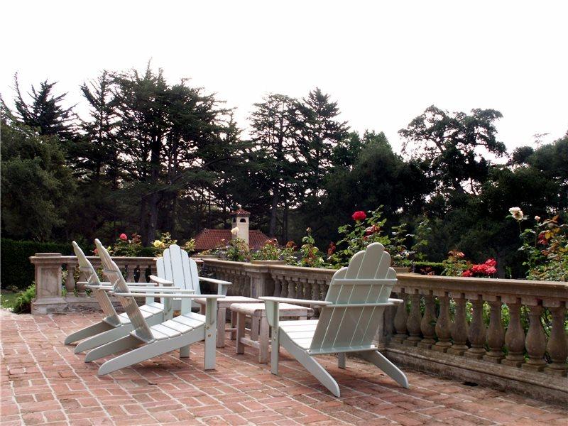 Brick Terrace Traditional Landscaping Grace Design Associates Santa Barbara, CA