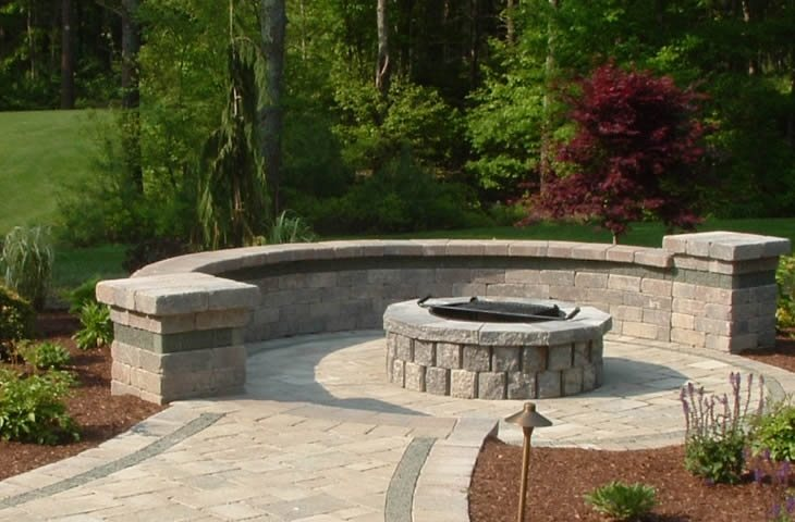 Fire Pit Ring Traditional Landscaping The Gardeners Kingston, MA