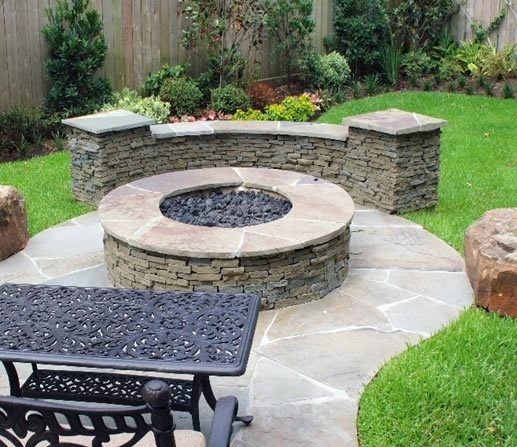 Backyard Fire Pit Landscaping Ideas: Traditional Landscaping