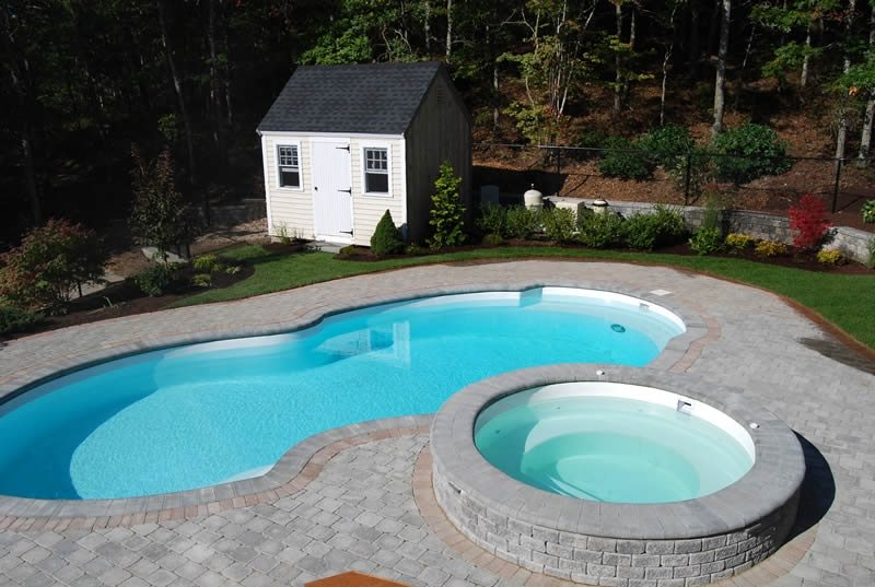 Free Form Swimming Pool Traditional Landscaping The Gardeners Kingston, MA