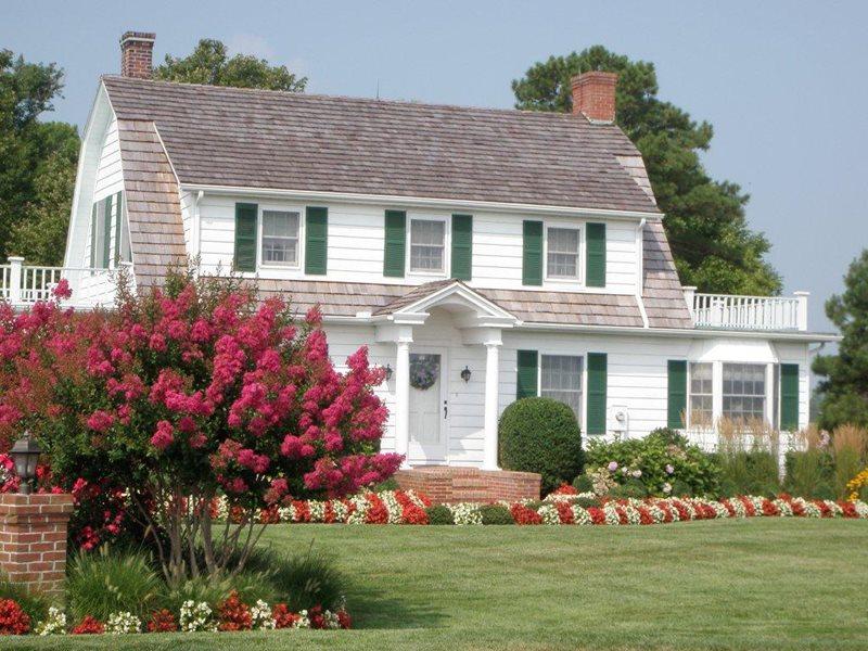 Front Lawn, Crepe Myrtle Traditional Landscaping Sposato Landscape Milton, DE