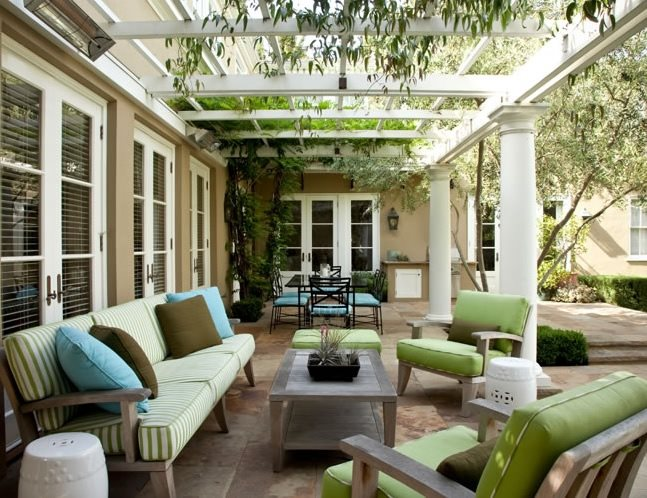 Patio Furniture Grouping Traditional Landscaping Joseph Marek Landscape Architecture Santa Monica, CA