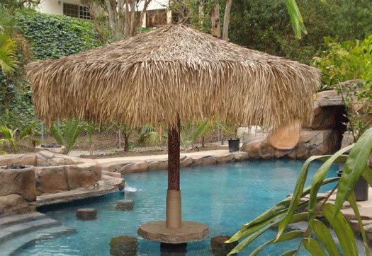 Palapa Pool Umbrella Tropical Landscaping Palapa Kings Oceanside, CA