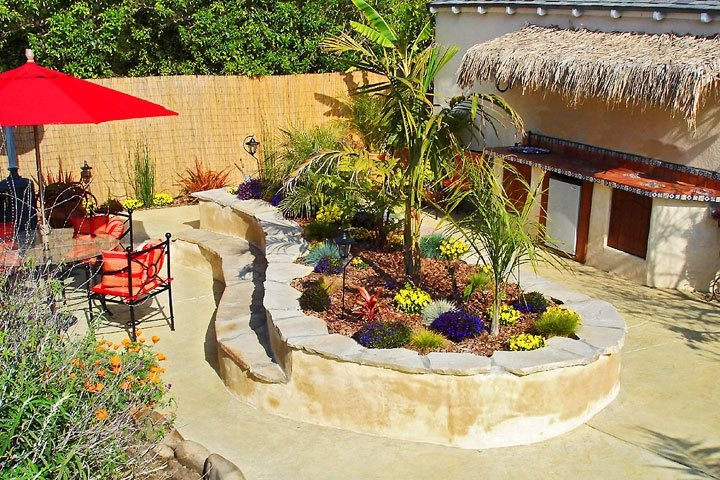 Seating Area Tropical Landscaping Landscaping Network Calimesa, CA