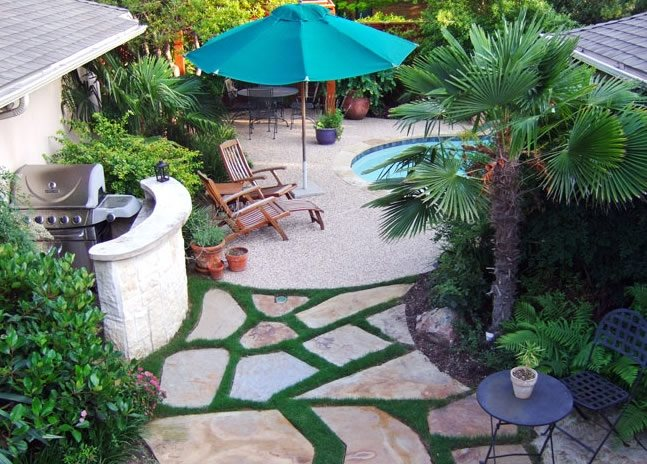 Tropical Landscaping - Dallas, TX - Photo Gallery ... on Tropical Backyard Landscaping  id=19145