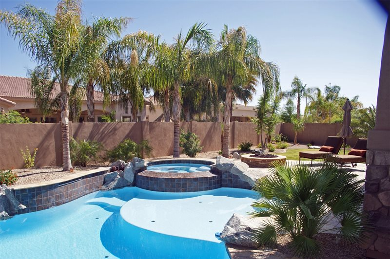 Desert Pool Tropical Pool Alexon Design Group Gilbert, AZ