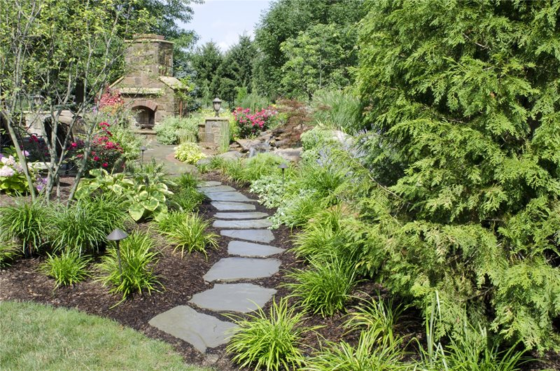 Bluestone Path Walkway and Path Rice's Nursery & Landscaping North Canton, OH
