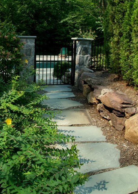 Casual, Walkway, Flagstone Walkway and Path Sisson Landscapes Great Falls, VA