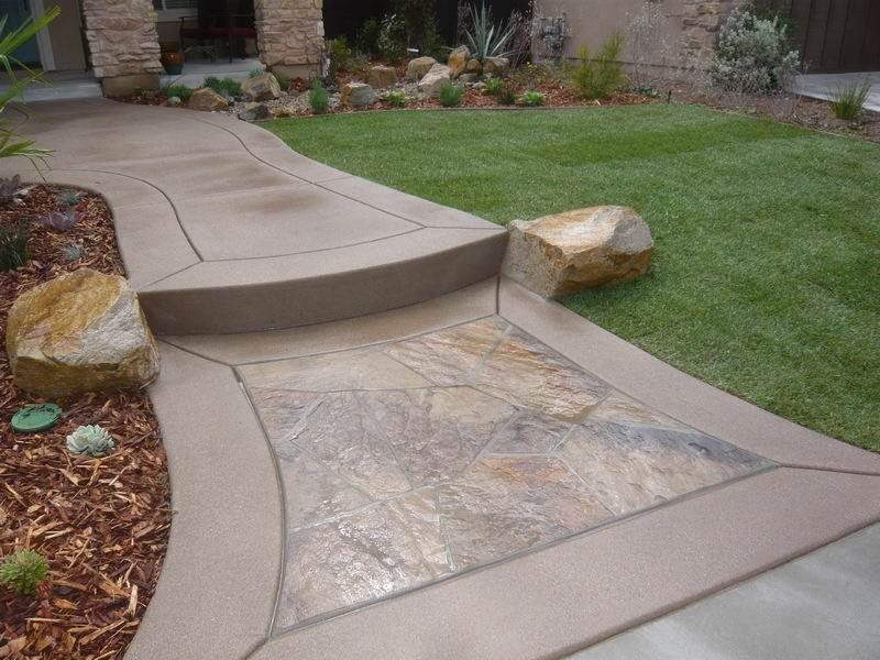Flagstone Walkway Inset Walkway And Path Quality Living Landscape San  Marcos, CA