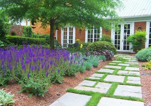 Walkway and path pinehurst nc photo gallery for Geometric garden designs