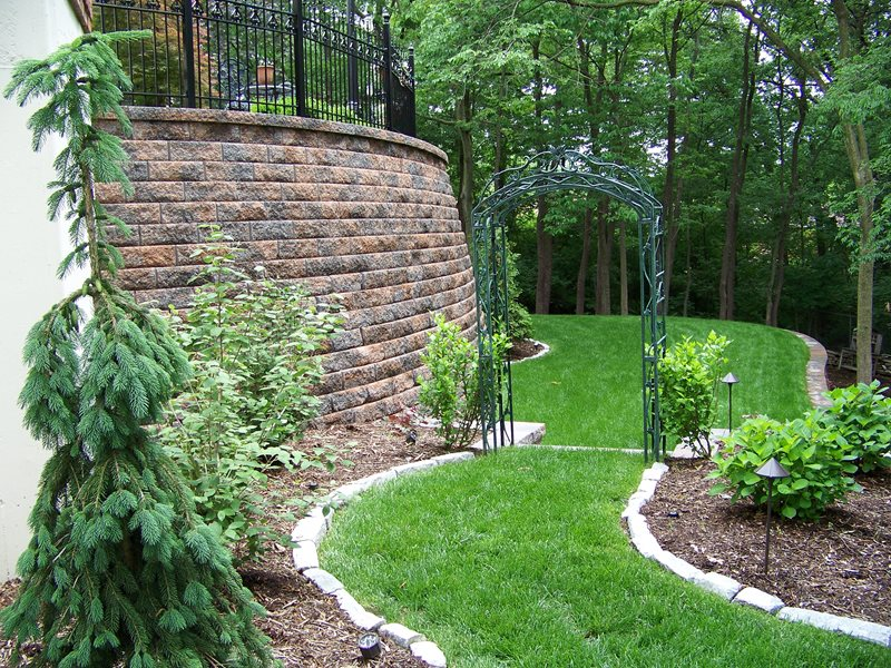 Grass Walkway, Stone Edging Walkway and Path Action Landscaping, Inc. Imperial, MO