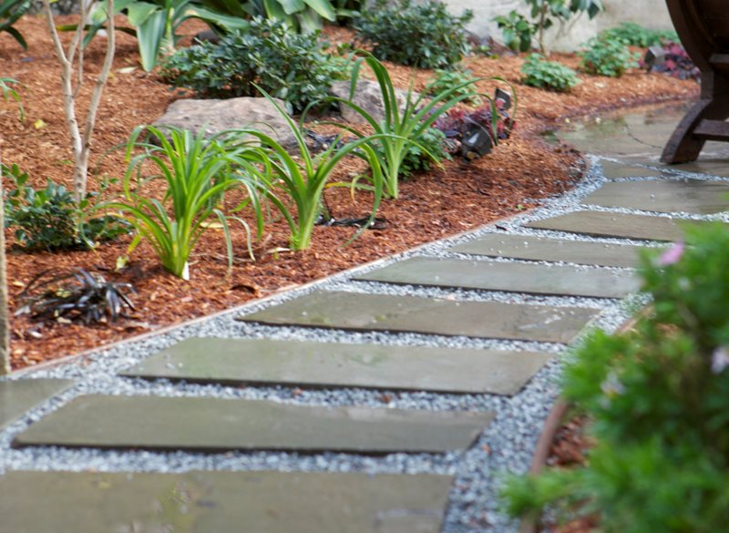 Gravel, Stepping Stones, Mulch Walkway and Path Aesthetic Gardens Mountain View, CA