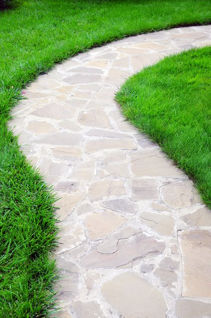Light Flagstone Path Walkway and Path Landscaping Network Calimesa, CA