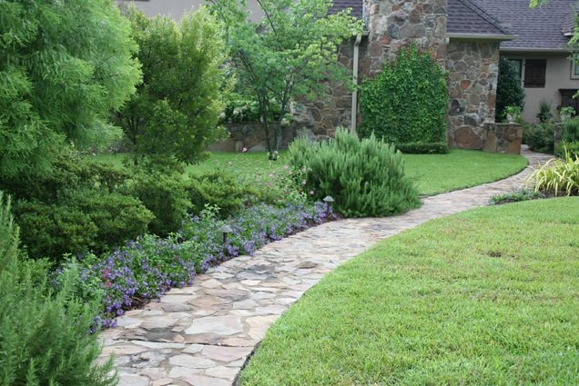 Natural Stone Landscaping Path Walkway and Path Landvisions TX Tyler, TX
