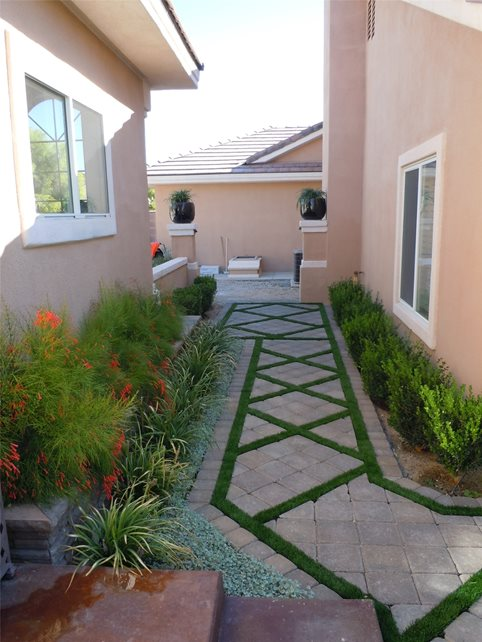 Paver, Path, Turf Walkway and Path Newtex Landscape, Inc. Henderson, NV