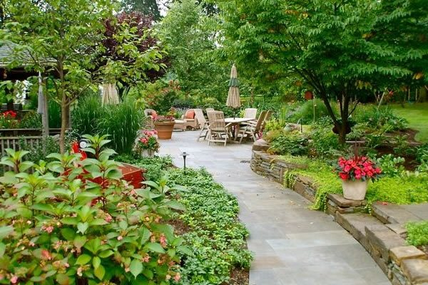 Walkway and path north wales pa photo gallery for Local garden designers