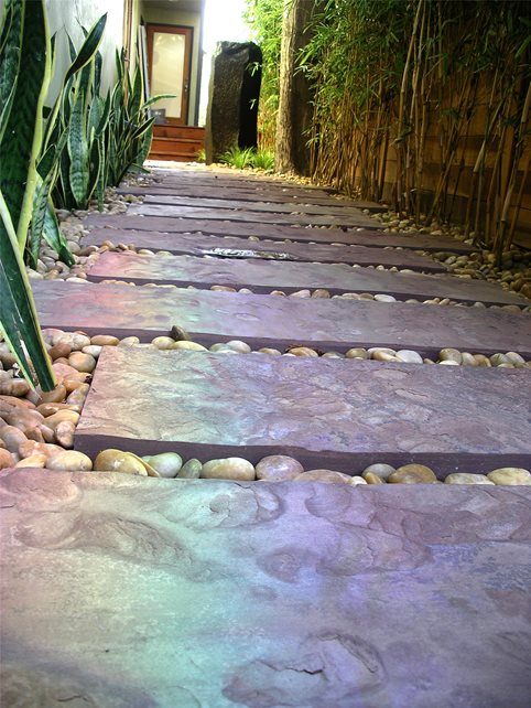 Walkway Paving Materials Walkway and Path Z Freedman Landscape Design Venice, CA
