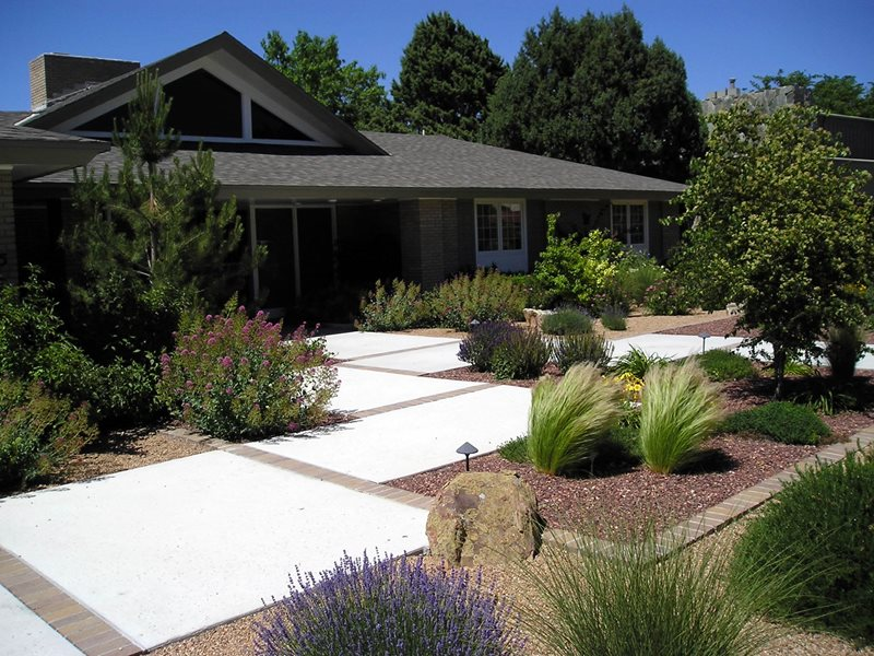Front Yard Xeriscape Ideas Part - 18: Front Yard Xeriscape Xeriscape Landscaping Red Twig Studio Albuquerque, NM