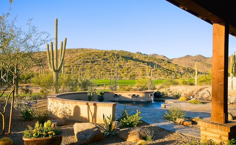 Xeriscape Water Feature Xeriscape Landscaping Boxhill Landscape Design Tucson, AZ